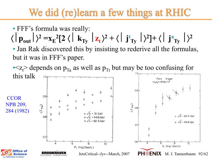 We did (re)learn a few things at RHIC