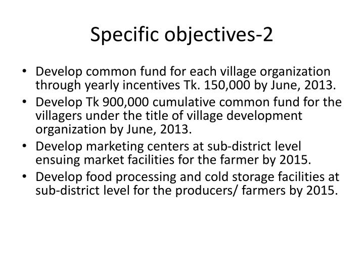 Specific objectives-2