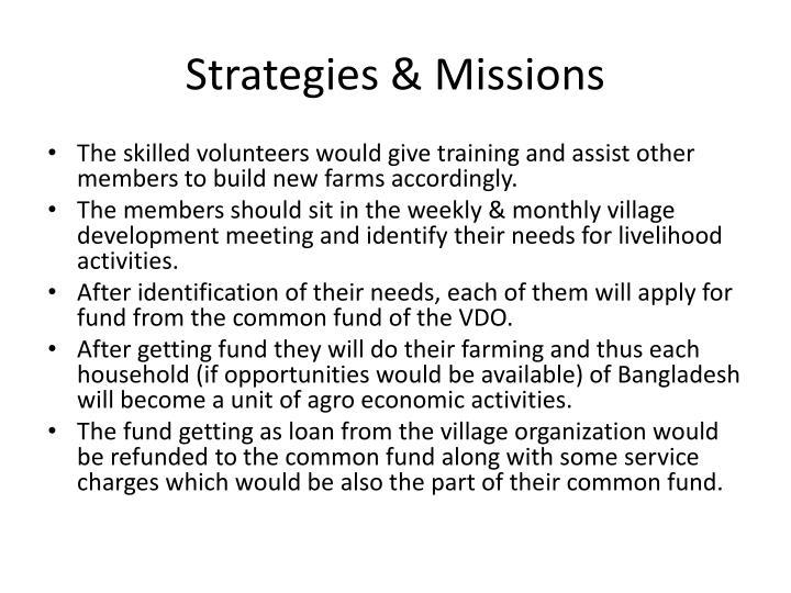 Strategies & Missions