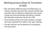 working process step 3 formation of vdo