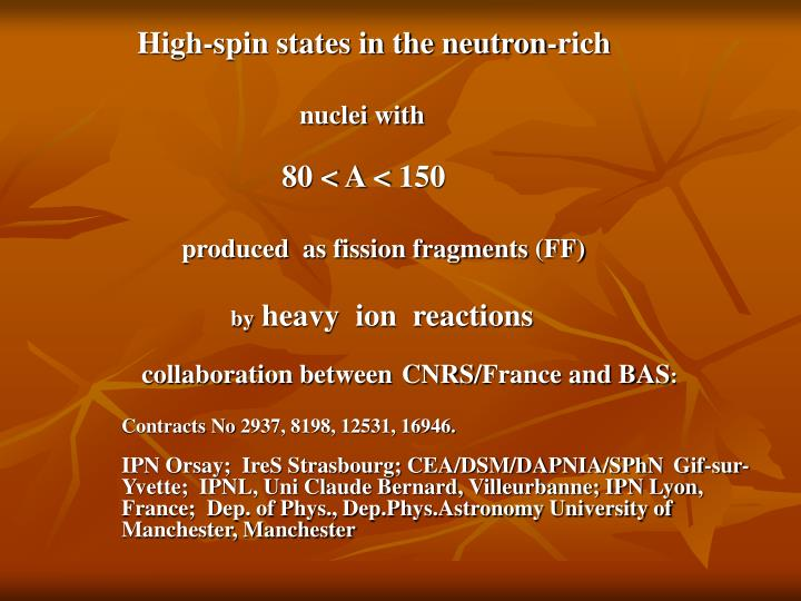 High-spin states in the neutron-rich