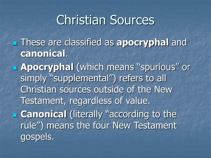 Christian Sources