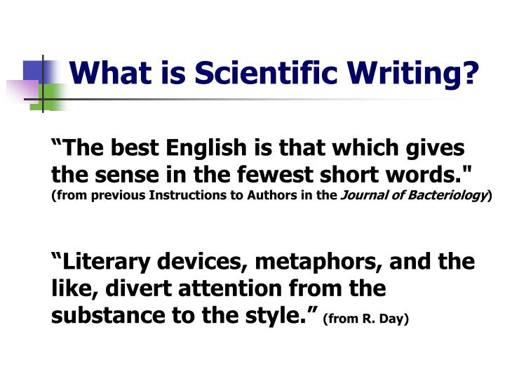 What is Scientific Writing?