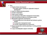 general assessment cont