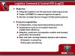 logistics command control atd logc2