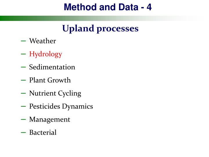 Method and Data - 4