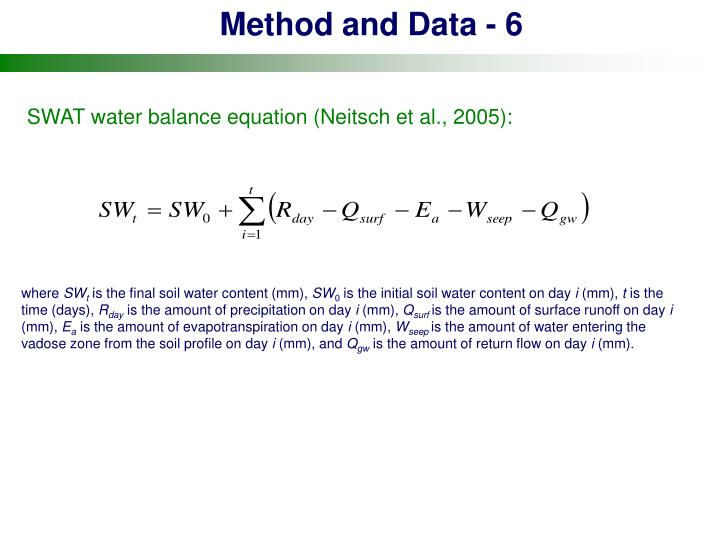 Method and Data - 6