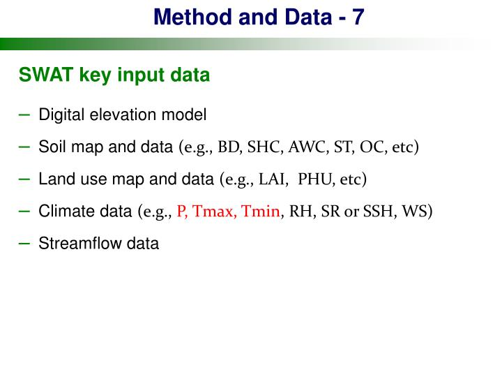 Method and Data - 7