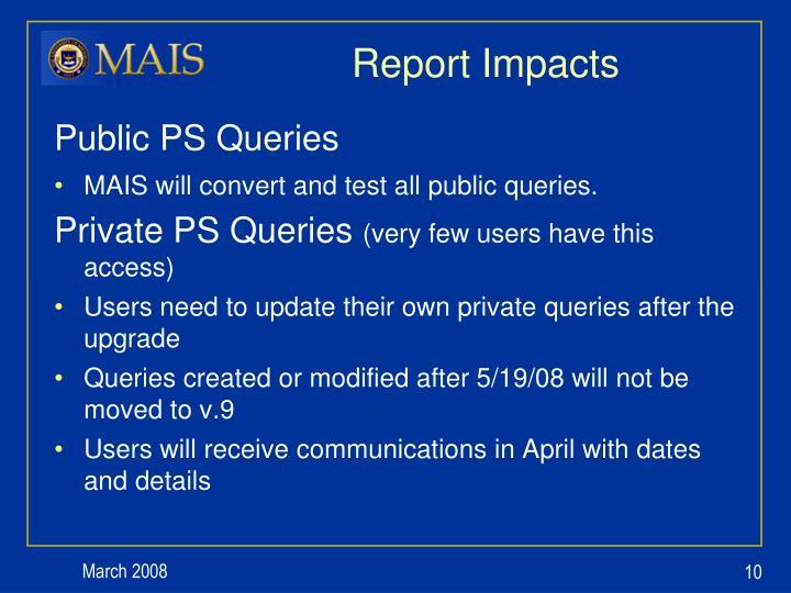 Report Impacts