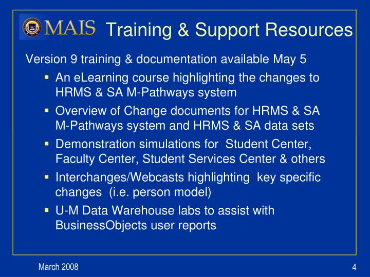 Training & Support Resources