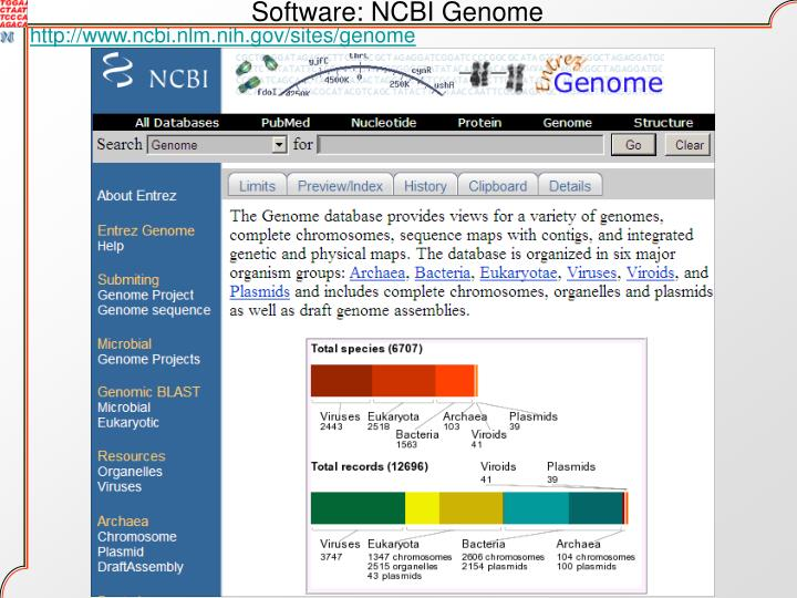 Software: NCBI Genome