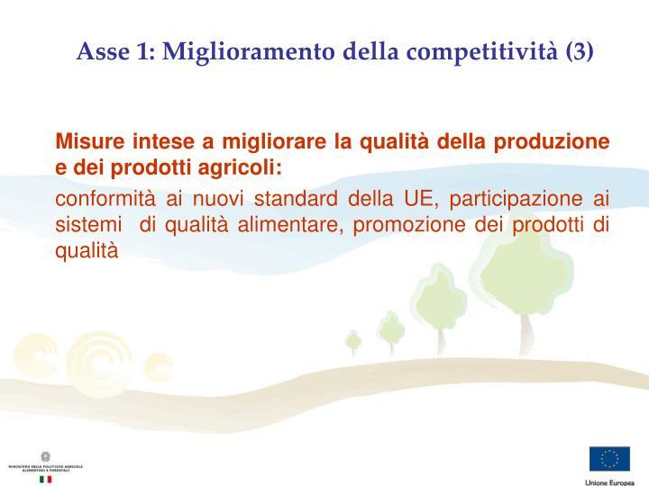 Asse 1: Miglioramento della competitività (3)