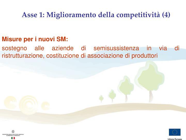 Asse 1: Miglioramento della competitività (4)