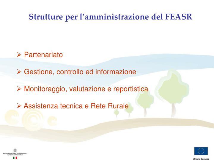 Strutture per l'amministrazione del FEASR
