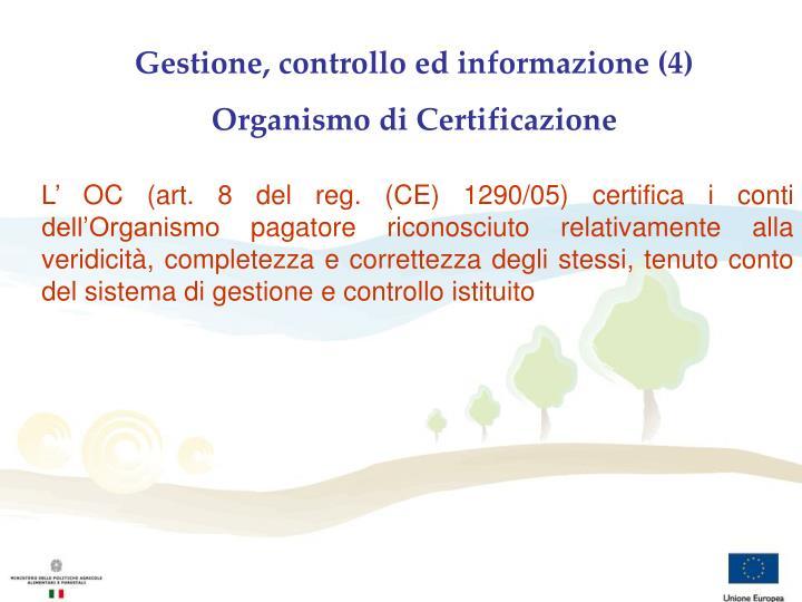 Gestione, controllo ed informazione (4)