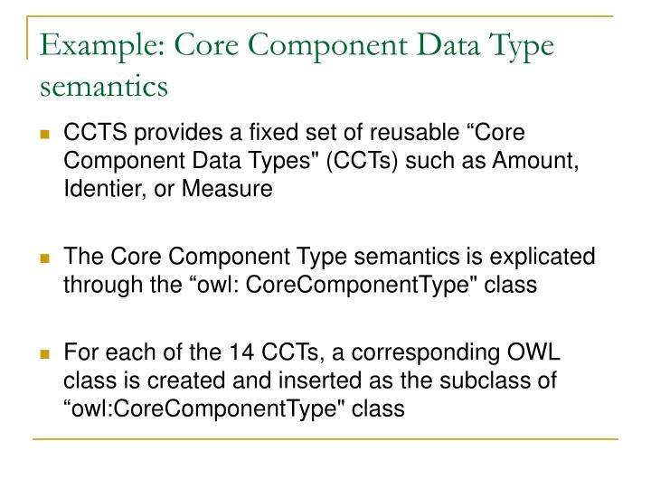 Example: Core Component