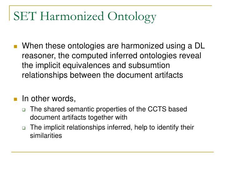 SET Harmonized Ontology