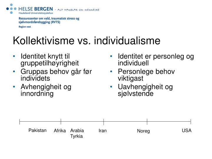 Identitet knytt til gruppetilhøyrigheit