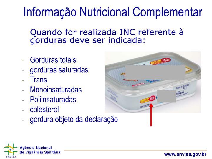 Informação Nutricional Complementar