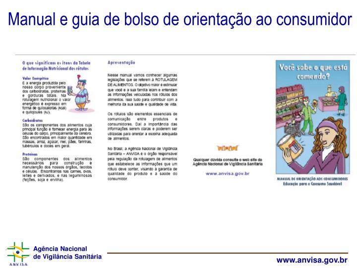 Manual e guia de bolso de orientação ao consumidor