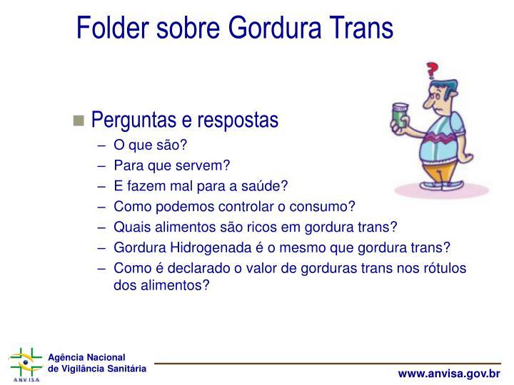 Folder sobre Gordura Trans