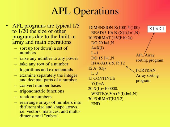 Apl operations