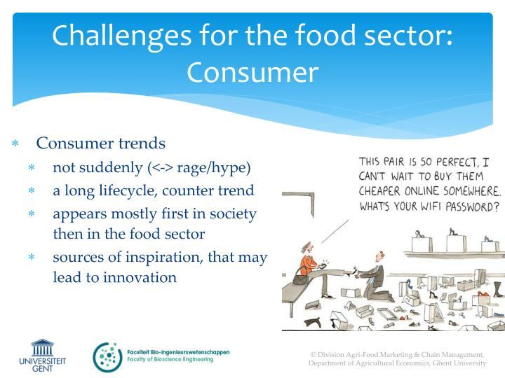 Challenges for the food sector: