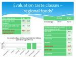 evaluation taste classes regional foods