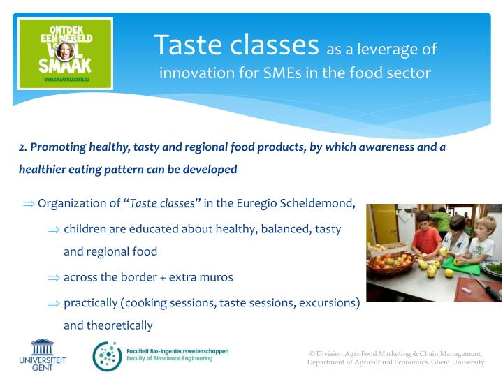 Taste classes