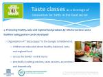 taste classes as a leverage of innovation for smes in the food sector1