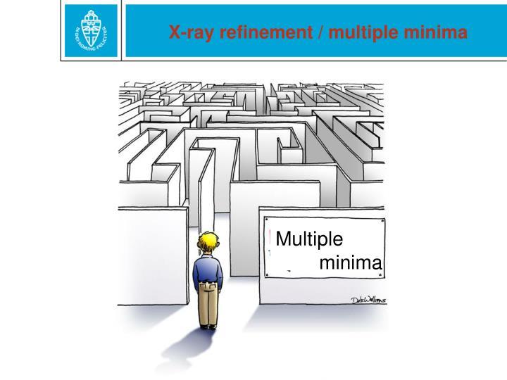 X-ray refinement / multiple minima