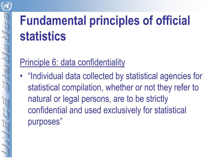Fundamental principles of official statistics