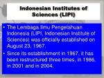 indonesian institutes of sciences lipi