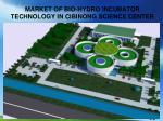 market of bio hydro incubator technology in cibinong science center