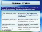 regional status
