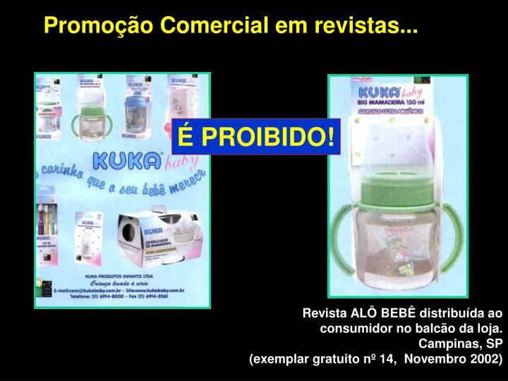 Promoção Comercial em revistas...