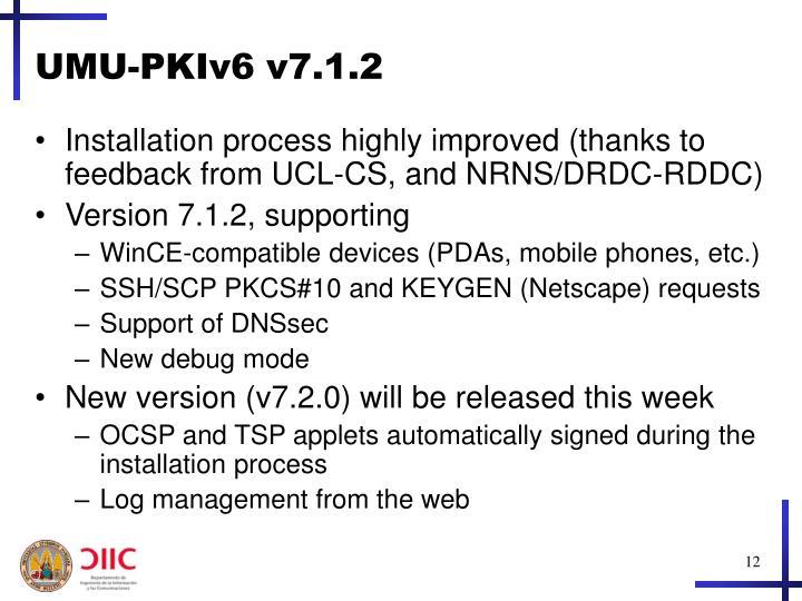 UMU-PKIv6 v7.1.2