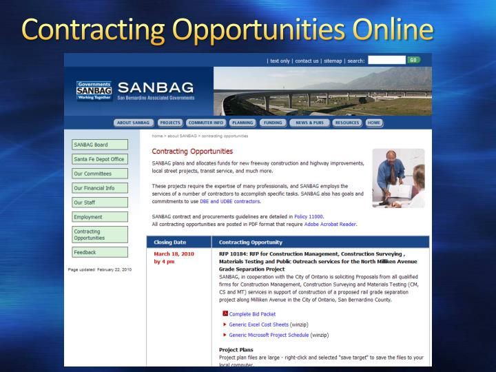Contracting Opportunities Online