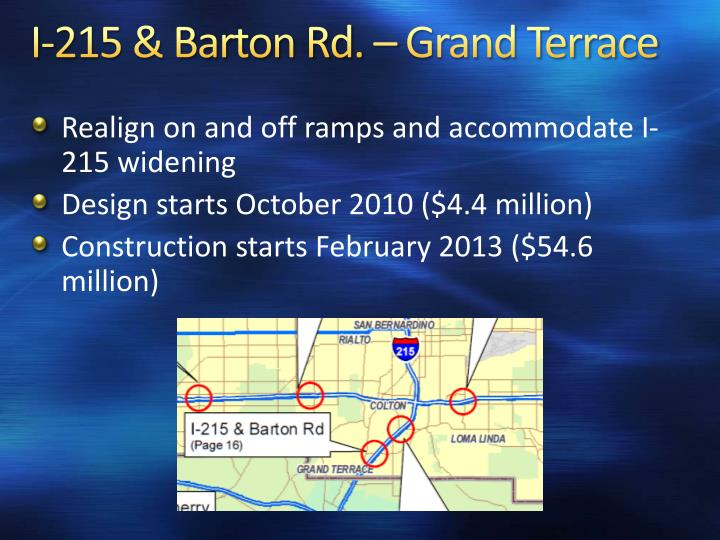 I-215 & Barton Rd. – Grand Terrace