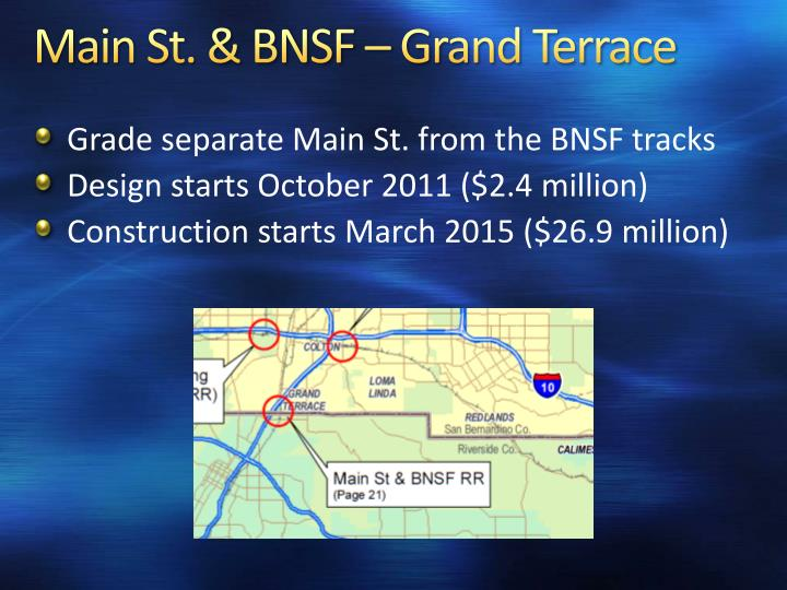Main St. & BNSF – Grand Terrace