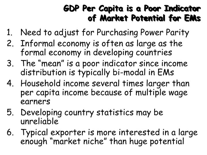 GDP Per Capita is a Poor Indicator