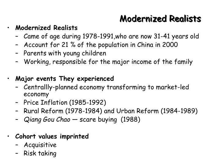 Modernized Realists