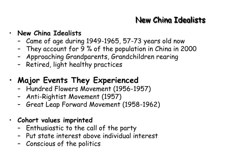 New China Idealists