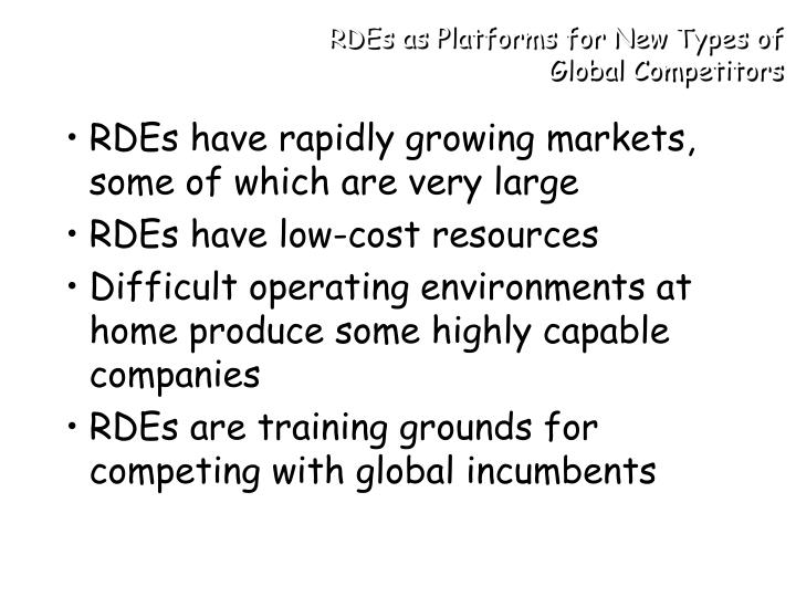 RDEs as Platforms for New Types of