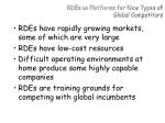 rdes as platforms for new types of global competitors
