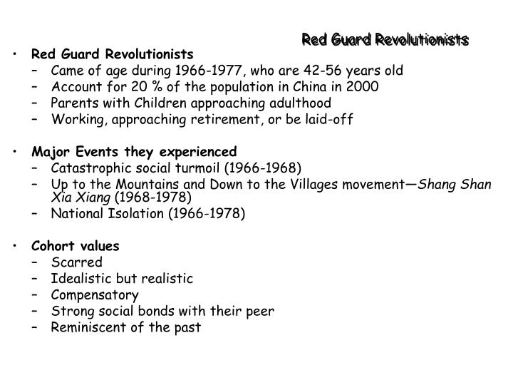 Red Guard Revolutionists