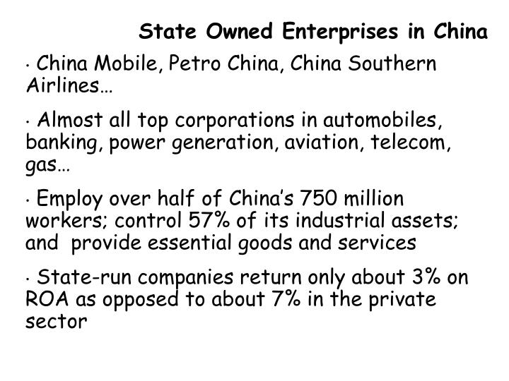 State Owned Enterprises in China