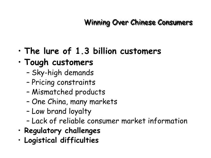 Winning Over Chinese Consumers