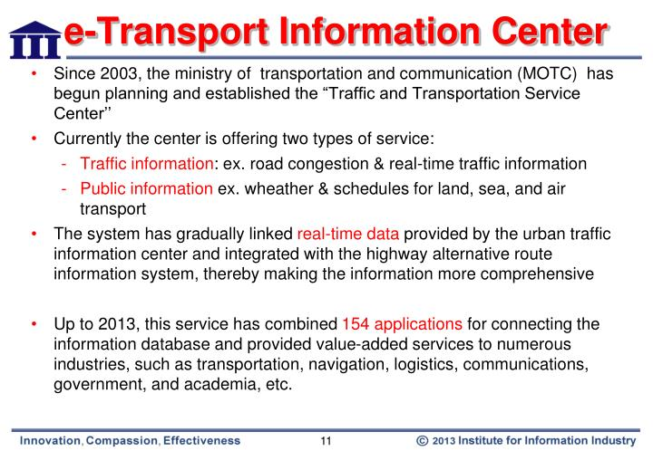 e-Transport Information Center