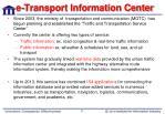 e transport information center